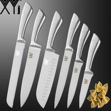 XYj Stainless Steel Kitchen Knives Set Slicing Bread Fruit Utility Santoku Cooking Knife Chef