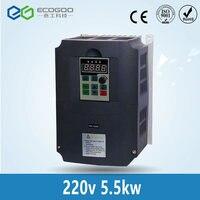 5.5kw 220 В в AC преобразователь частоты и преобразователь выход 3 фазы 650 Гц двигатель переменного тока водяной насос контроллер/ac приводы/преоб