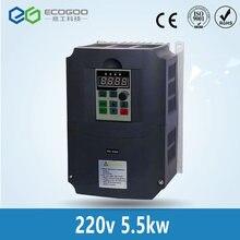 Inversor de frecuencia de CA, salida trifásica de 220 HZ, controlador de bomba de agua de motor de CA, unidades de CA, convertidor de frecuencia, 5, 5kW/4kW/2,2 kW 650 v