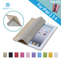 Stand Design PU Case for iPad 4 3 2 Transparent Back Ultra Slim Smart Cover Smartcover for iPad4 iPad3 iPad2 +Stylus Pen as Gift
