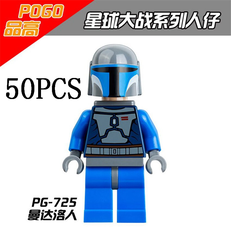 Gifts Pogo Wholesales PG725 50PCS Star Wars Building Blocks Bricks Toys Action Figures Compatible With Legoe