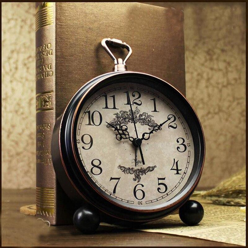 2016 Yeni 5,5 düym Retro Siqnal Saatı Masaüstün Sükutu Uşaq - Ev dekoru - Fotoqrafiya 1