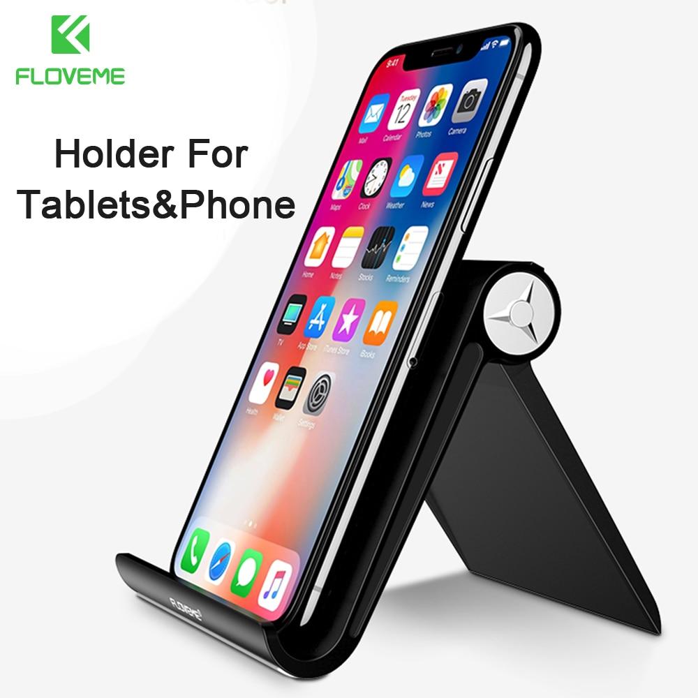 FLOVEME 조절 전화 태블릿 스탠드 홀더 아이폰 삼성 전화 홀더 범용 유연한 책상 스탠드 태블릿 홀더