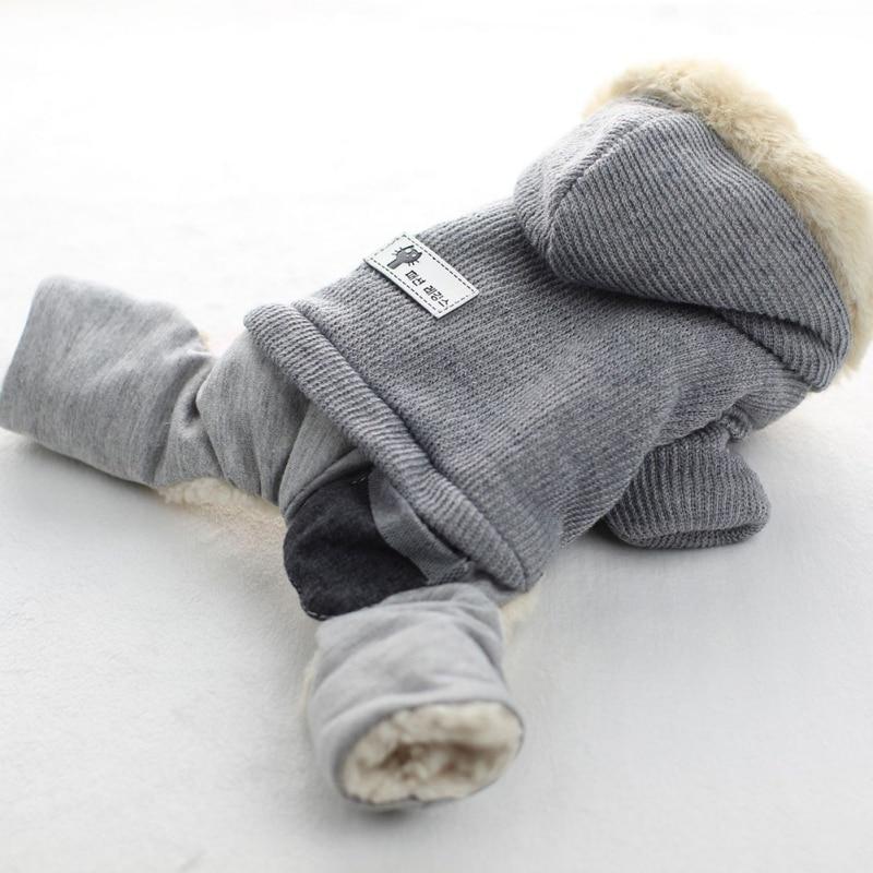 ᗗPet Dog Clothes Winter Warm Dog Coat Jumpsuit Thicken Pet