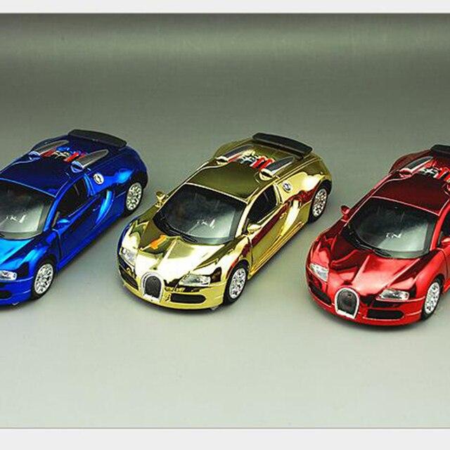 1:36 Литья Под Давлением Сплава Модель Автомобиля для Детей Детские Игрушки Звук & Light Вытяните Назад Автомобиль Bugatti Veyron покрытие Издание бесплатно двери x288