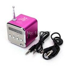 TD-V26 Mini Mp3-player TF Karte USB Disk Micro Sd-karte FM Radio Linie In/Out Sound Box Digital Portable Lautsprecher
