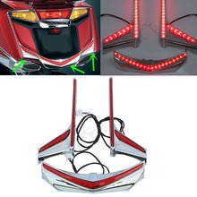 Motorcycle Rear Fender Tip Run Brake LED Light Strips For Honda Goldwing GL1800 F6B Models 2012-2017 2016 air intake accent grilles led chrome case for honda f6b goldwing gl1800 goldwing 2012 2016