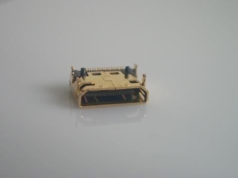 10 pces mini hdmi conector fêmea smd 19pin reflow solderable ângulo direito superfície mound pcb rohs novo