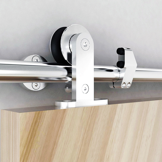 Ordinaire DIYHD 5ft 8ft Stainless Steel Sliding Barn Door Hardware Safety Pin Top  Mount Roller Cabinet