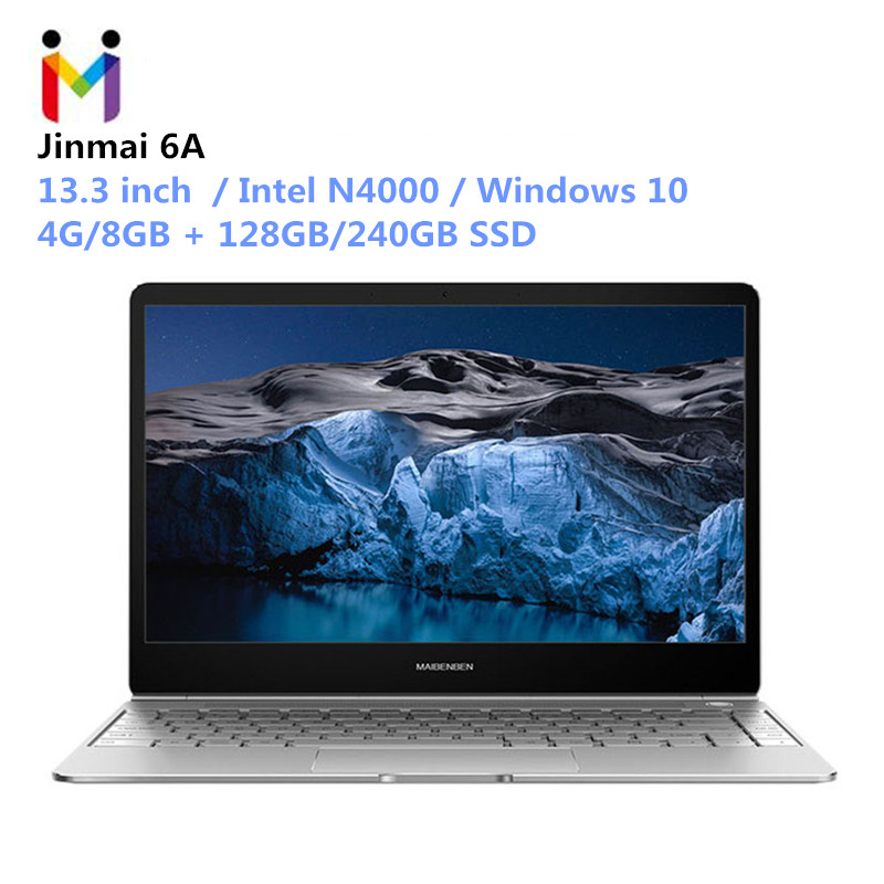 MAIBENBEN Kaynaklanan 6A Laptop 13.3 Windows 10 Intel N4000 Quad Core 2.2 GHz 4 GB RAM 128 GB SSD BT 5.0 2.4G + 5G WiFi Oyun NetbookMAIBENBEN Kaynaklanan 6A Laptop 13.3 Windows 10 Intel N4000 Quad Core 2.2 GHz 4 GB RAM 128 GB SSD BT 5.0 2.4G + 5G WiFi Oyun Netbook