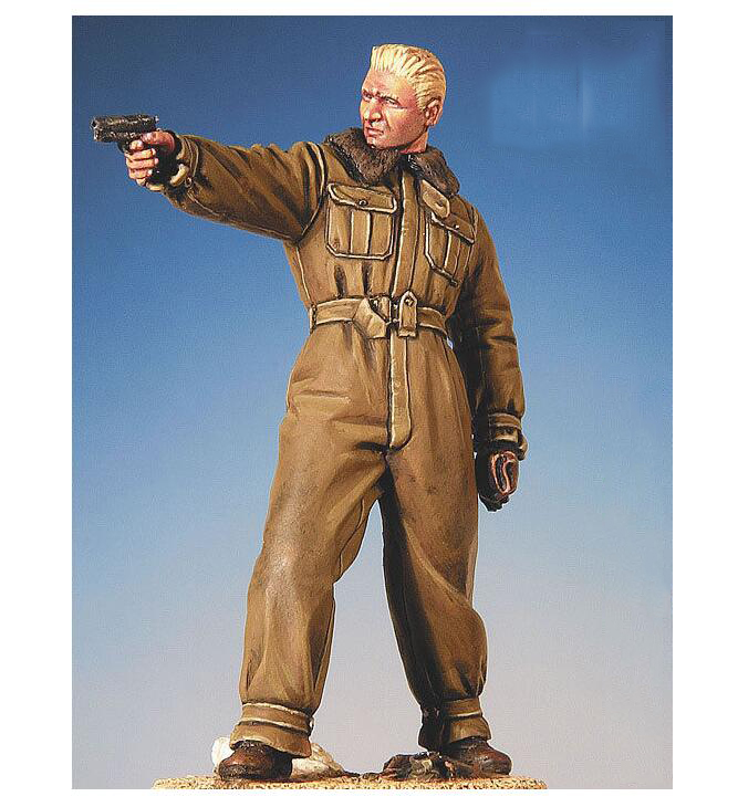 Assembly Unpainted Scale 1/32 54mm Frank Luke standing 54mm with base Historical toy Resin Model Miniature Kit
