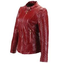 Прямые продажи с фабрики плед молния PU кожаная куртка 2017 Модные женские искусственная кожа короткая заметка локомотив кожаная куртка wj359
