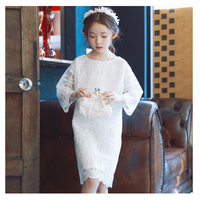 Kids Girls Wedding Girl Dress Princess Little Girls Party Dress Long Sleeve Lace Dress Kids Dresses for Girls