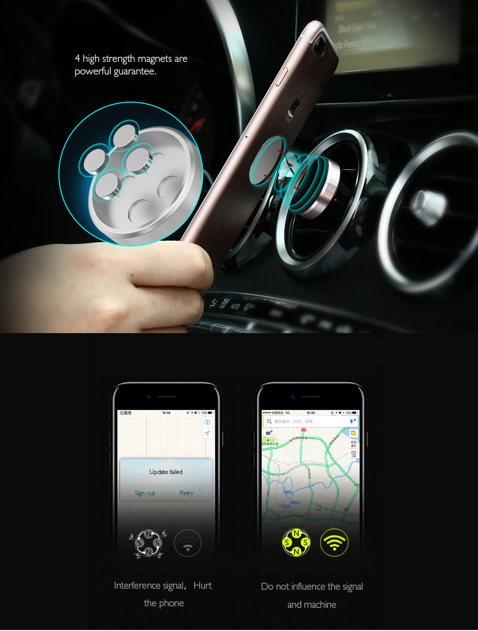 Mobile Phone Car Holder For iPhone 6 6s 7 Plus (5)