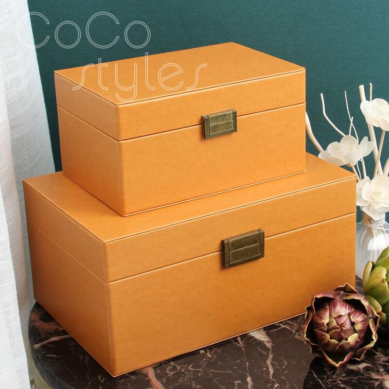 Cocostyles InsFashion boîtes à bijoux créatives faites à la main créatives pour la décoration de luxe moderne