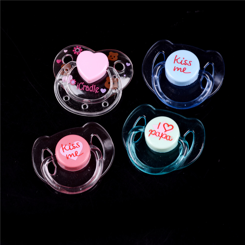 1pc Magnet Pacifiers For Reborn Baby Doll Handmade DIY Pacifiers Nipples Magnetic Dummy Fit For Doll With Magnet Mouth