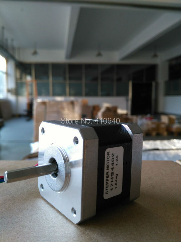 In Stock Free shipping stepper motor 17HS4402 1.3 A 40 N.cm with 4 lead wires and step angle 1.8 degree