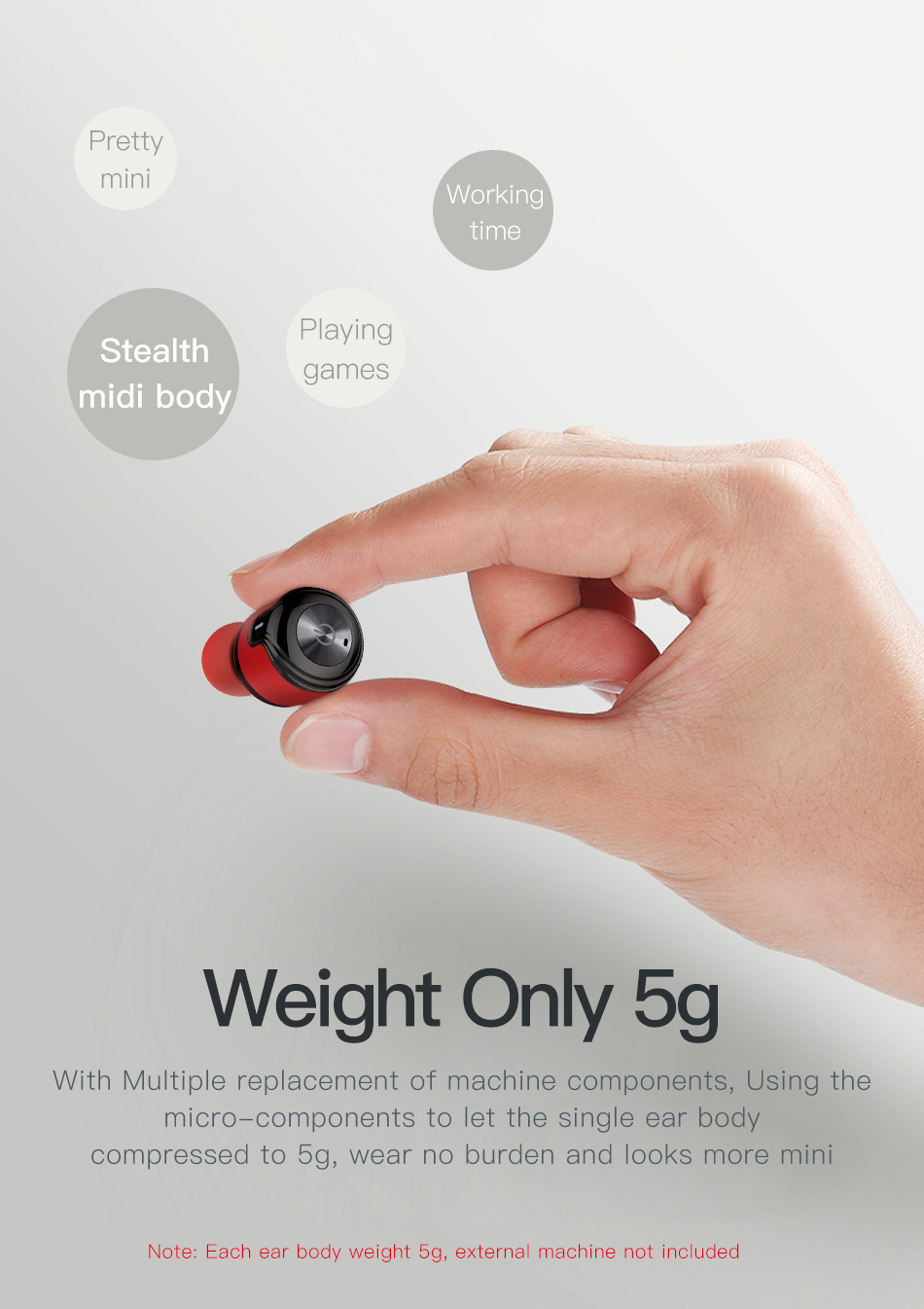 Awei T8 TWS CVC 6.0 True Wireless Sport Eearbuds Headphone With Power Bank Dual Microphone 3D Stereo In-Ear Handfree Earphones (9)