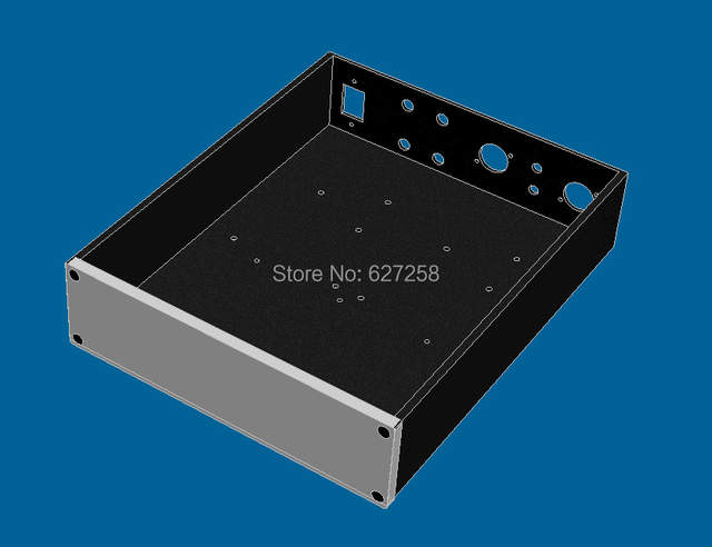 RE2507 NC enclosure for 2 channels Hypex NC400( BLACK) with All