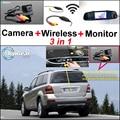 Для Mercedes Benz MB GL X164 GL 350 450 550 3in1 специальный Оригинальный Отверстие Камеры + Беспроводной Приемник + Зеркало Экрана Парковка система
