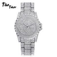 Relojes de hombre reloj de diamantes reloj de cuarzo analógico de moda relojes de pulsera regalos 2018 relojes de lujo para hombre relojes para hombre