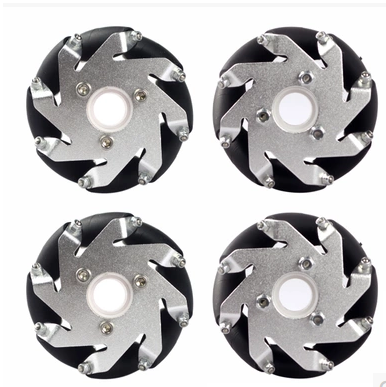 A Group of (4) 60mm 14159 Mecanum Wheel Omni Wheel Robot 60 Mm Aluminum Wheels 4wd 60mm mecanum wheel arduino robot kit 10021