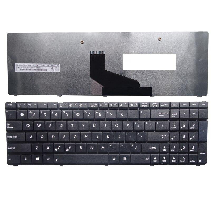 US For ASUS X54H X54 X53B X53U K53 K73 K53T K73KT x53 Replace laptop keyboard Black New English