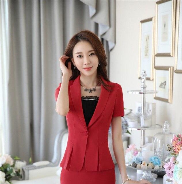 Plus Size Formale OL Stile Professionelle Sommer Blazer Business Frauen Tops  Blaser Weibliche Kleidung Blazer Mantel c6ede1fff9