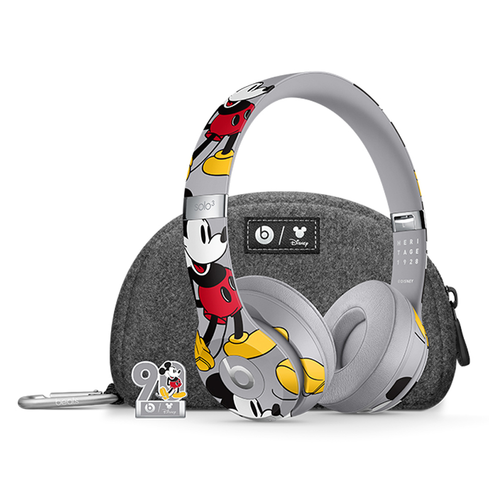 Beats Headphones Solo3 Wireless Bluetooth Headset Mickey's 90th Anniversary Edition On Ear Earphones Handsfree with Mic