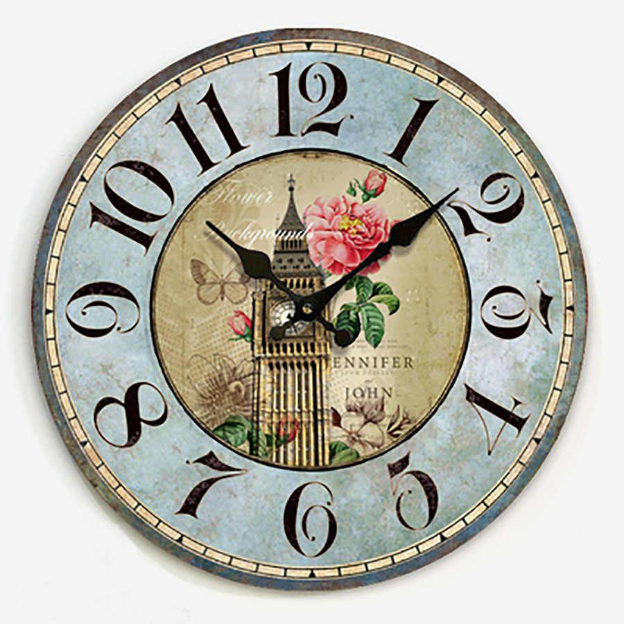 Reloj de Pared de diseño moderno Vintage, mecanismo silencioso, Relojes de Pared con diseño Digital, superventas, 2019 productos WZH260