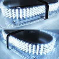 White Light Bar Roof Top Emergency Hazard Warning Flash Strobe 240 LED For Vw Golf Ford