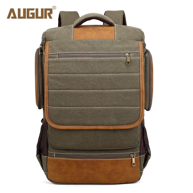 цена  AUGUR New Men Fashion Canvas Backpack Large Capacity School Backpack Bag Man Multifunctional Laptop Travel Backpack For Men  онлайн в 2017 году