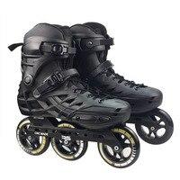 JK Original RS6 Inline Speed Skates Professional Adult Kids Roller Skating Shoes 3*110mm Wheels Size 35 46 Free Skating Patins