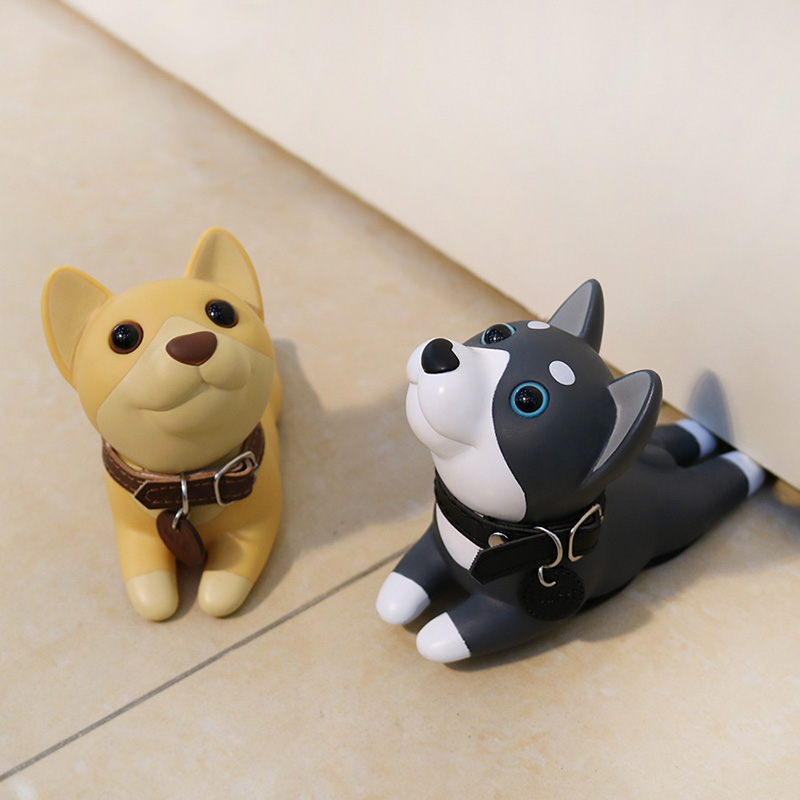 Cute Dog Cat Door Stopper Doorstop Door Wedge Cartoon Puppy Doors Stop Strong Grip Slip Resistant CLH@8 цена 2017