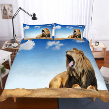 Bedding Set 3D Printed Duvet Cover Bed Set Lion Home Textiles for Adults Lifelike Bedclothes with Pillowcase #SZ04