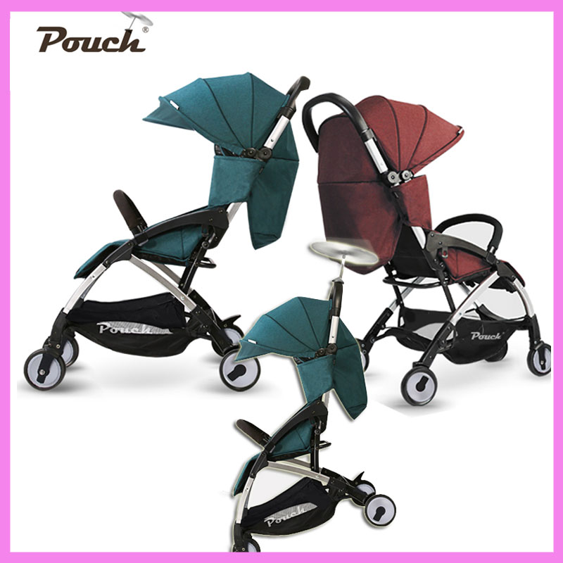 Pouch Light Weight Portable Travel Airplane Baby Stroller Can Sit Lie Car Foldable Summer Baby Umbrella Cart Trolley Pram 0~3Y light foldable baby stroller 3 in 1 cozy can sit and lie lathe umbrella car stroller carry bag 4 colour three wheels single seat
