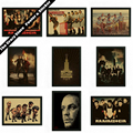Rammstein theatrical poster retro nostalgia kraft paper decorative painting wall sticker