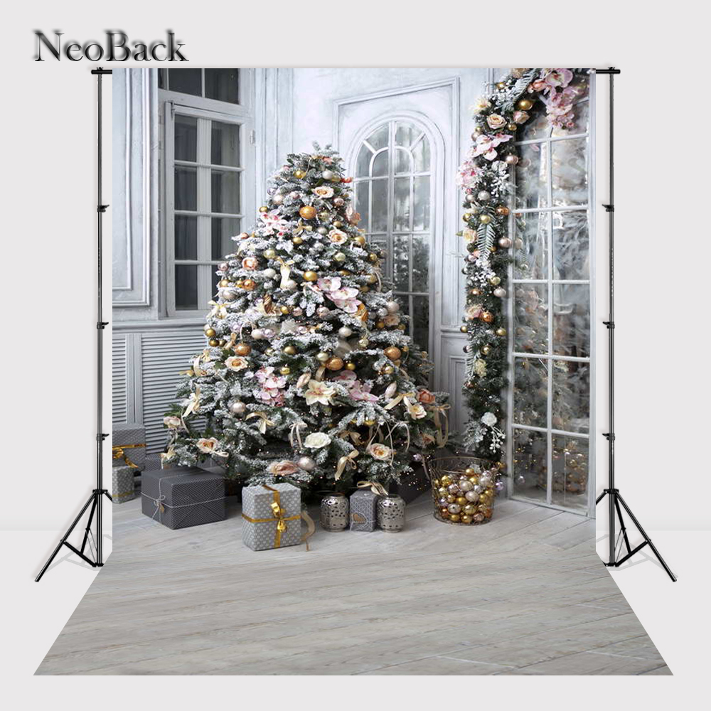 NeoBack 5x7ft Vinyl Newborn Baby Christmas Party Photographic Background Children Kids Holiday Scene Studio Photo Backdrop P1133