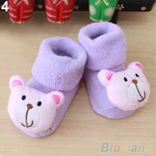 Yenidoğan Bebek Erkek Kız Anti Kayma Ayakkabı Hayvan Karikatür Terlik Bot Çorap