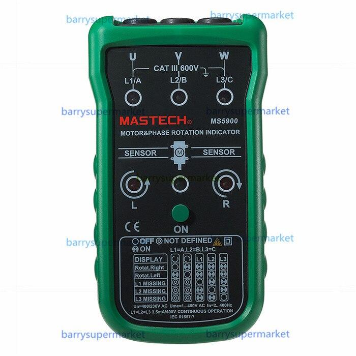 Mastech MS5900 handheld Three Phase Rotation Indicator Motor Meter 3-Phase Tester Meter Digital multimeter 2~400Hz vs Fluke 9040  цены