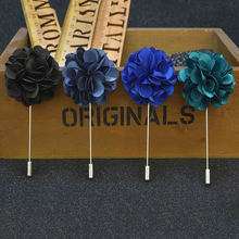 hot deal buy fashion men's brooches floral lapel pin for men suit brooch colorful label pins upscale brooches flower pin trendy fine jewelry