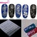 Mileegirl 1Sheet=108Pcs 3D Metal Nail Art Stickers,DIY Flower Decoration Decals Stickers Manicure For Nails Design