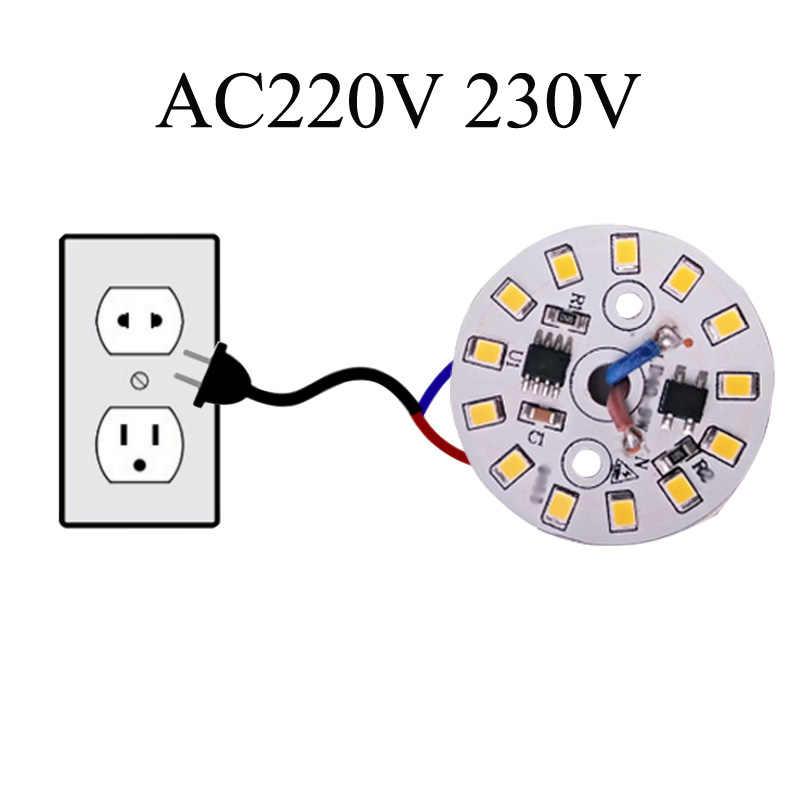 10 ชิ้น/ล็อต LED SMD ชิปหลอดไฟ LED 15W 12W 9W 7W 5W 3W AC220V อินพุตสมาร์ท IC LED Bean สำหรับหลอดไฟสีขาวเย็นอบอุ่นสีขาว