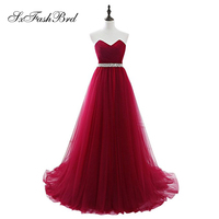 Vestido De Festa Sweetheart a Line Tulle Long Formal Party Elegant Off Shoulder Evening Dresses for Girls Old Night Dresses