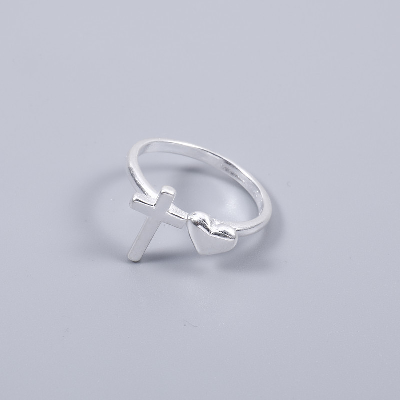 2018 new design 925 sterling silver finger rings Cross shape of ring for your lover