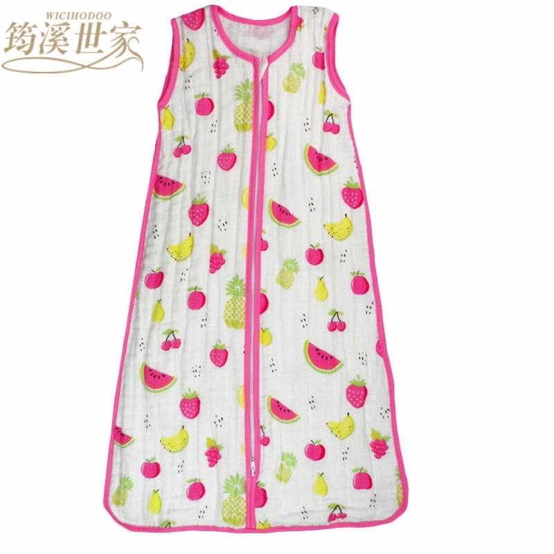 Baby Sleeping Bag SleepSack Muslin Blanket Thin Soft Vest Type Cotton Gauze Newborn Baby Tracksuit Sleepwear