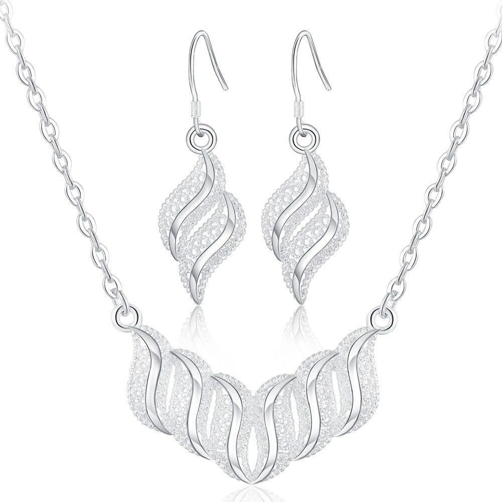 LS006 Collar Eearring joyería set NUEVO LLEGA Popular caliente MUJERES de la man