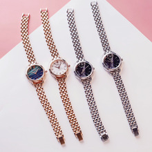 Marble Stainless Steel Women Watches Fashion Casual Gold Silver Quartz Woman Clo