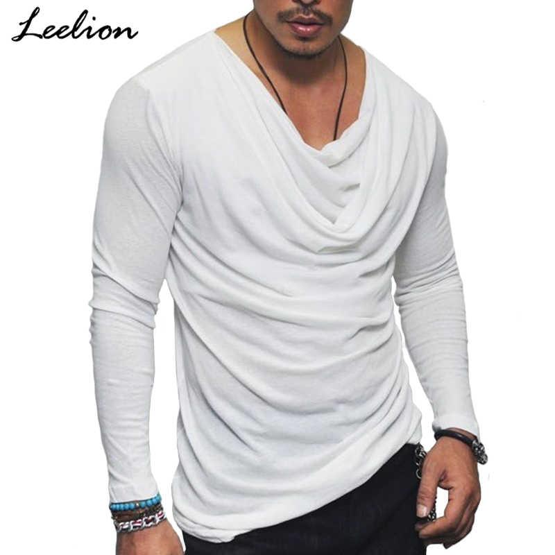 Icelion 2020 New Spring T Shirt Men Fashion Fold Design Solid T Shirt Long Sleeve Hip Hop Streetwear Slim Fit Men S Tshirt Tops Men Tshirt Designer Tshirtfashion Tshirt Aliexpress