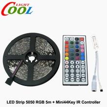 RGB LED Strip 5050 5m + IR 44Key Controller + DC12V 6A Adapter Flexible LED Light RGB Sets.